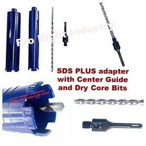 2 And 2 5 Dry Core Bit For Concrete With Sds Plus Adapter And Center Guide