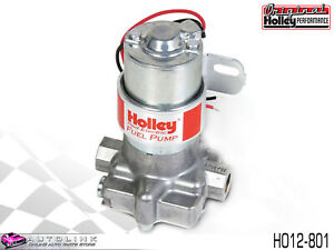 Holley Red Electric Fuel Pump 97 Gph 7 Psi Polished Billet Look Ho12 802