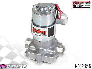 Holley Black Electric Fuel Pump 140 Gph 14 Psi Max Silver Finish Ho12 815