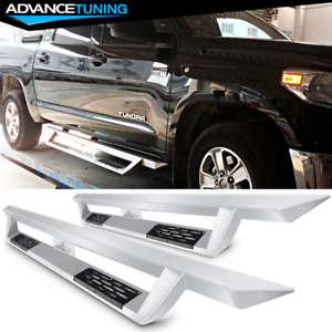 Fits 07 19 Toyota Tundra Crew Max Steel Side Step Bar Running Boards Silver