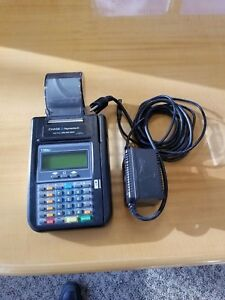 Hypercom T7 Plus Credit Card Terminal Power Supply W Paper
