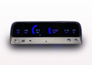 1964 1966 Chevy Truck Digital Dash Panel Blue Led Gauges Made In The Usa