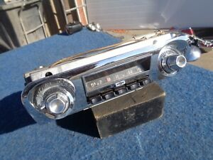 1959 1960 Chevy Radio With Faceplate Bel Air Biscayne Brookwood Impala