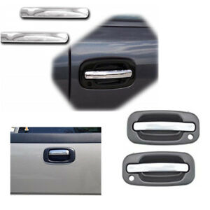 For 99 06 Gm Pickup Silverado Sierra Chrome Ss Door Handle Tail Level Cover 3pcs
