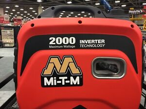 Mi t m Gen 2000 imm0 Portable Generator Inverter 2000w 12v Used Quiet Commercial