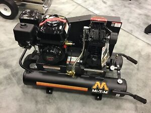 New Air Compressor Mi t m 6 5 Hp Gas Power Single Stage Honda Engine Portable