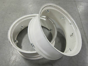 2 New Wheel Rims 11x28 6 loop International Farmall 230 330 300 Utility 11 28