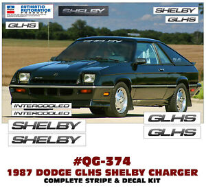 Sp Qg 374 1987 Dodge Glhs Shelby Charger Stripes Decals Licensed