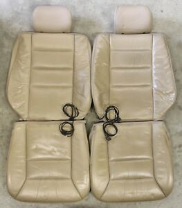 Mercedes Benz W124 1994 1995 Front Seat Heated Leather Covers Parchment 124