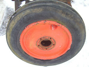 Vintage Ji Case Sc Row Crop Tractor 500 X 15 Front Wheel Tire 1950