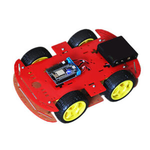 4wd Rc Smart Robot Car Chassis Kit W Nodemcu Motor Board For Arduino Toy