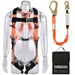 Welkforder 1 D ring Industrial Fall Protection Safety Harness Kit With Single
