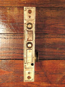 Vintage Antique Yale Towne Push Button Mortise Door Lock Brass Face