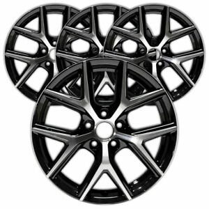 18 Machined Black Rim By Jte For 2016 2017 Toyota Rav4 18x7 5 Set Of 4