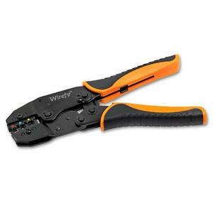 Crimping Tool For Insulated Electrical Connectors Ratcheting Wire Crimper