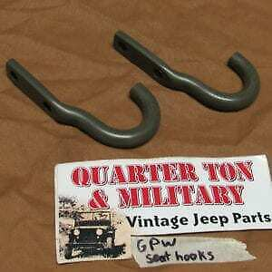 Jeep Willys Mb Ford Gpw Rear Seat Hooks Pair F Marked G503