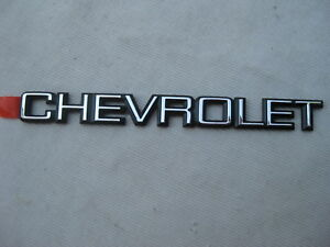 Nos Chevy Caprice Impala 1980 1981 Gm 2nd Design Trunk Lid Chevrolet Emblem