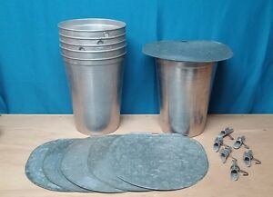3 Maple Syrup Aluminum Sap Buckets 3 Lids Grimm Covers 3 Taps Spiles Spouts