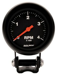 Auto Meter 2890 Z series Mini Tachometer Gauge 2 5 8 4000rpm