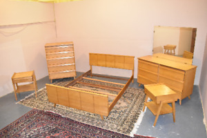 Mid Century Modern Vintage Bedroom Set By Baumritter 1950 S