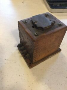 Vintage Antique Model A Or T Ignition Coil Dove Tailed Wooden Box