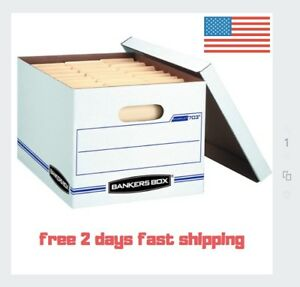 Bankers Box Stor file Storage Boxes Heavy Duty 6 Pack Office Legal Moving Fold