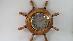 8 Bells Ship S Wheel Clock Made In Germany 8 Day Run Time