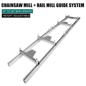 Aluminum Chainsaw Rail Mill Guide System For 2 7m Or 1 5m Guide Systems Gloves