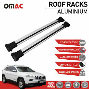 Roof Racks Cross Bars Roof Rails Alu Silver Set For Jeep Cherokee Kl 2014
