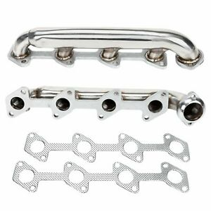 For 03 07 Ford Powerstroke F250 F350 6 0 Stainless Performance Headers Manifolds
