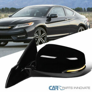 For Honda 13 17 Accord Power Heated 7 Pin Driver Side Mirror led Turn Signal