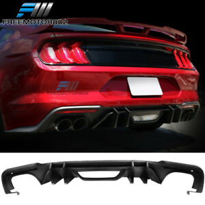 Fits 18 19 Ford Mustang S550 Competition Style Matte Black Pp Rear Diffuser