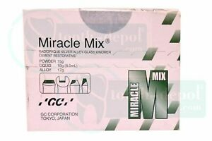 Silver Alloy Glass Ionomer Cement Restorative Gc Dental Miracle Mix Radiopaque