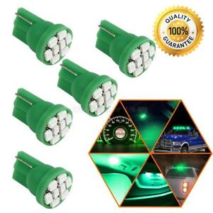 5x Green Led T10 2825 168 158 Smd Wedge For License Plate stop Light Dome Bulbs