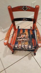 Child Sized Hand Painted Rocking Chair In Great Condition