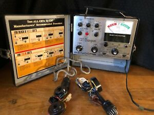 Vintage Sencore Crt Champion Cr143 Tube Tester With Harnesses