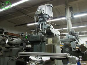 Bridgeport Series I 2hp Vertical Milling Machine 9 X 42 Table Id M 051