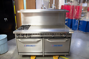 Commercial Stove Oven And Grill Baker s Pride 60 Range