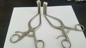 Lot Of 2 W Link Surgical Retractor 75 2603 01 75 2603 02