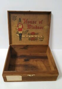 Vintage House Of Windsor Palmas Cigar Wooden Crate Box