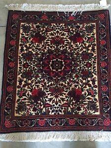 Antique Handmade Collectible Persian Bijar Wool Oriental Rug 2x3 Ft