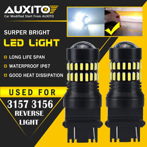 2x 48smd 3157 High Power 4014 Chip Led 6000k White Daytime Running Light Bulb Ea