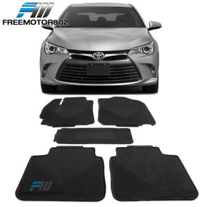 Fits 12 17 Toyota Camry All Weather Heavy Duty Latex Floor Mats Front