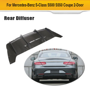 Rear Bumper Diffuser Bodykit Carbon Fiber For Mercedes benz S class Coupe 14 17