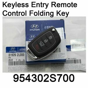 Genuine Keyless Entry Remote Control Folding Key 954302s700 For Hyundai Tucson