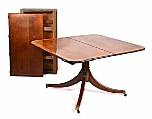 Fine Sheraton Style Mahogany Banded Dining Table Coffee Side End Antique Vintage