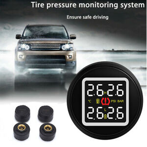 Digital Tpms Tire Pressure Monitor System 4 Sensors Cigarette Lighter For Toyota