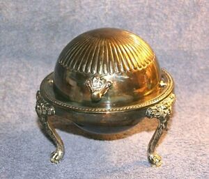F B Rogers Silver Co 273 Butter Dish With Retractable Top