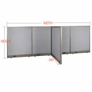 Gof T shaped Freestanding Office Partition Panel Room Divider 48 h 60 h 72 h