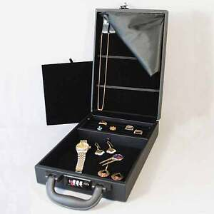 Compact Jewelry Attache Carrying Case W Combo Lock 8 1 2 X 12 1 8 X 2 1 4 h